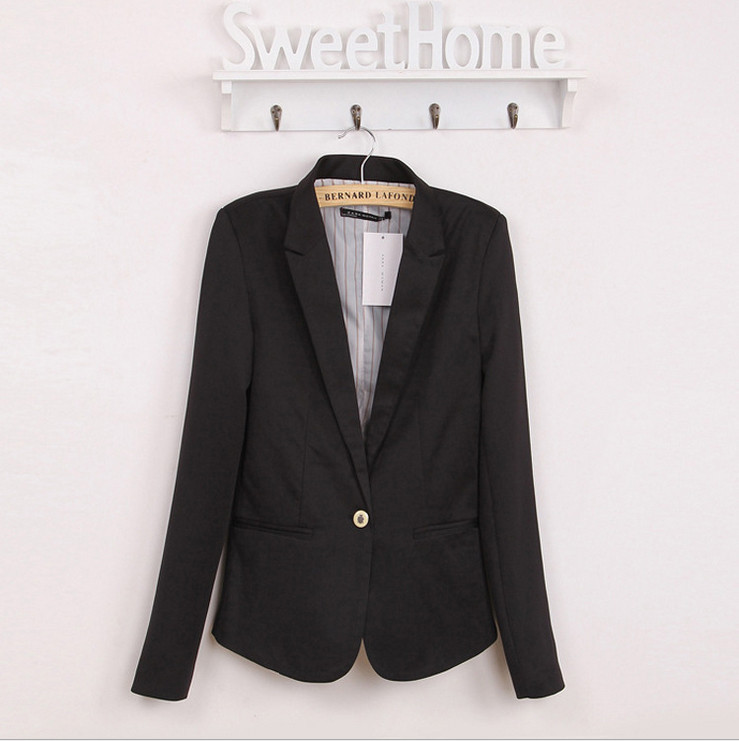 2016 Za new hot stylish and comfortable women's Blazers Candy color lined with striped Z suit   Free Shipping WL2314