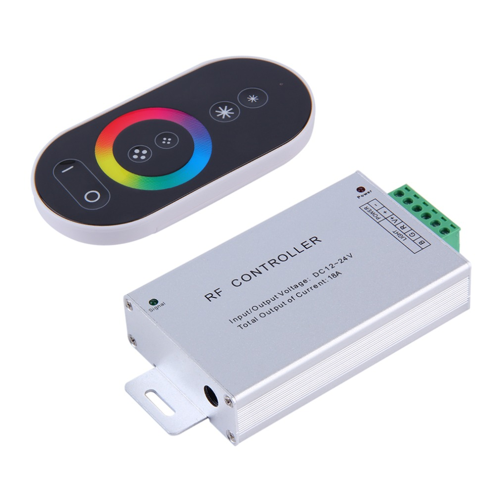 2016 New Useful 6-Key RGB DC 12-24V Touch Panel Aluminum Wireless LED RF Remote Controller Brand New(China (Mainland))