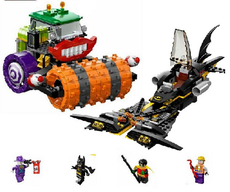 Bela Super Heroes 485Pcs The Joker Steam Roller Robin Batman Minifigures Building Block Kids Toys Compatible With Legodt