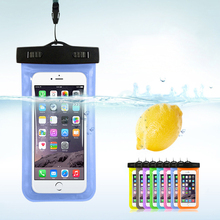 """Waterproof Pouch Dry Case Cover For Universal 4.8""""-6.0"""" Phone Camera Mobile Phone Water proof Bags For Iphone 5 5s SE 6 6s Plus(China (Mainland))"""