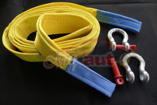 Car trailer rope 10 meters 15 Tons Tow Cable Tow Strap Towing Rope with Hooks for Heavy Duty Car Emergency(China (Mainland))
