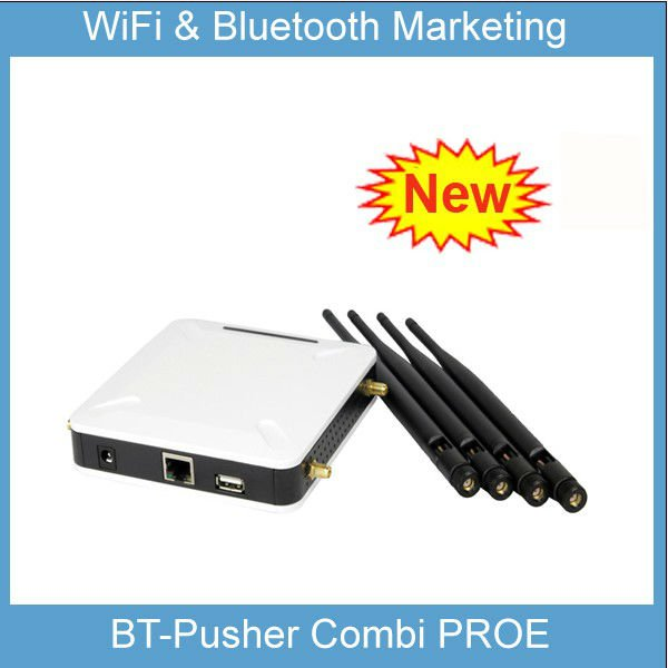 WiFi proximity Marketing Device with bluetooth advertising (BT-Pusher COMBI PROE) with Car Charger(Free advertising system)(China (Mainland))