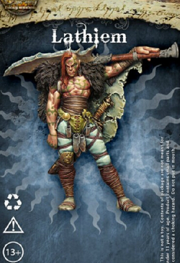Enigma Miniatures Lathiem Barbarian Warrior Resin Models Free Shipping(China (Mainland))