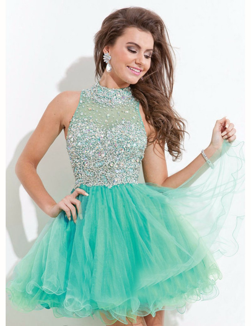 Blue Puffy Short Prom Dresses | Dress images