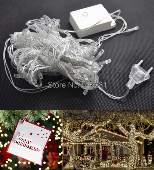 10m/lot 110v/220V waterproof 10m/100leds Led String Christmas Light with 8 modes for Holiday/Party Decoration lights Free Ship<br><br>Aliexpress