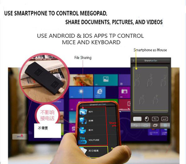 Mobile Phone Control Mini PC Android & Windows System(China (Mainland))
