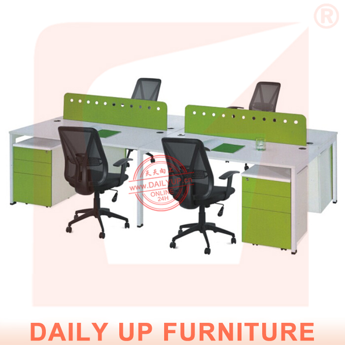 Wooden Office Table Design with 4 Divisions Office Furniture Modern Office Desk Drawers Luxury Executive Desk(China (Mainland))
