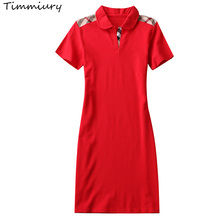 Buy Timmiury Summer New V-neck Women Office Dress Cotton Short Sleeves Mini Dresses Party Jersey Black/Red/White 2017 Sexy Dress for $16.17 in AliExpress store