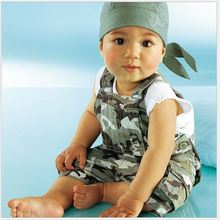 Foreign trade children camouflage strap 2 sets of children's clothing wholesale trade of single Hitz's free shipping(China (Mainland))