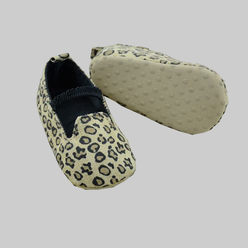 Cotton baby girl's shoes fashion leopard pattern baby moccasins elastic fixed infantil first walker(China (Mainland))