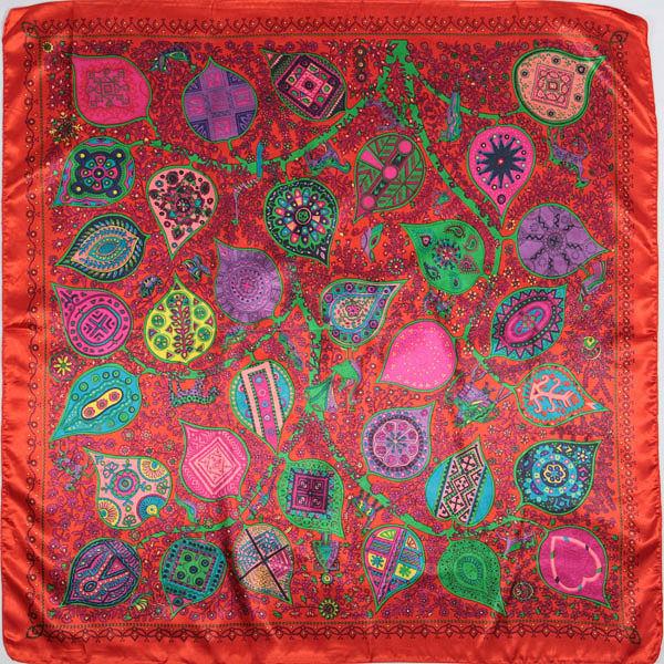 90 * 90 см Шелковый шарф 2016 Новая весна бренд женщин Шелковый шарф женщин роскоши моды письмо шарф шелковые шарфы wj201