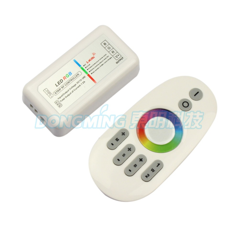 2.4G RGB LED controller Touch pannel LED controller 12V/24V 12A Wireless 2.4G Finger touch ring Remote 288Watt for LED RGB Strip(China (Mainland))