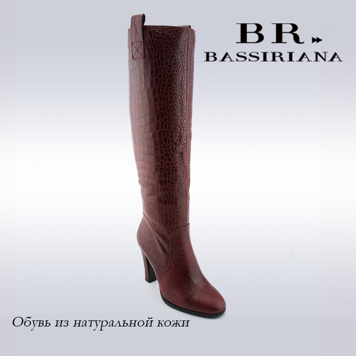 BASSIRIANA - Women winter high boots, genuine leather high boots, russian size, free shipping(China (Mainland))