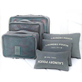 6pcs Packing Cubes Value Set for Travel Clothes Tidy Organizer Pouch Bags