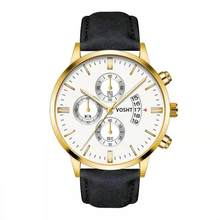 2019 Relogio Masculino שעונים גברים אופנה ספורט נירוסטה מקרה עור להקת שעון קוורץ עסקי שעוני יד Reloj Hombre(China)