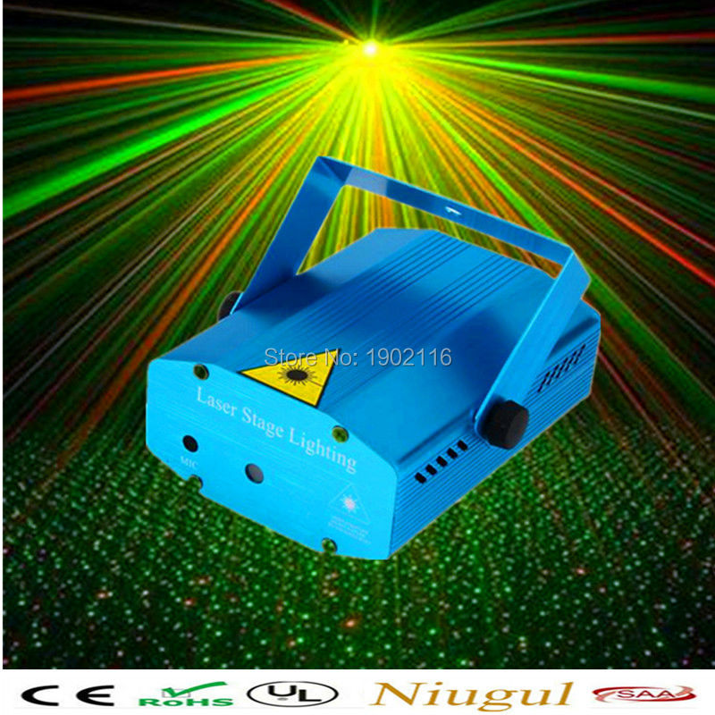 Mini Portable 110-240V Red Green Laser Meteor Projector Lights DJ KTV Home Party Dsico Xmas LED Stage Lighting(China (Mainland))