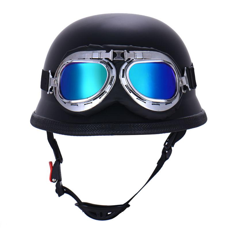Women Men Motorcycle Half Helmet With Motorbike Protective Goggles German Style Casque Cruiser Helmet(China (Mainland))