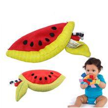 Bambino massaggiagengive giocattolo del bagno bambini infant soft placare giocattoli bambola calma massaggiagengive developmental anguria forma(China (Mainland))