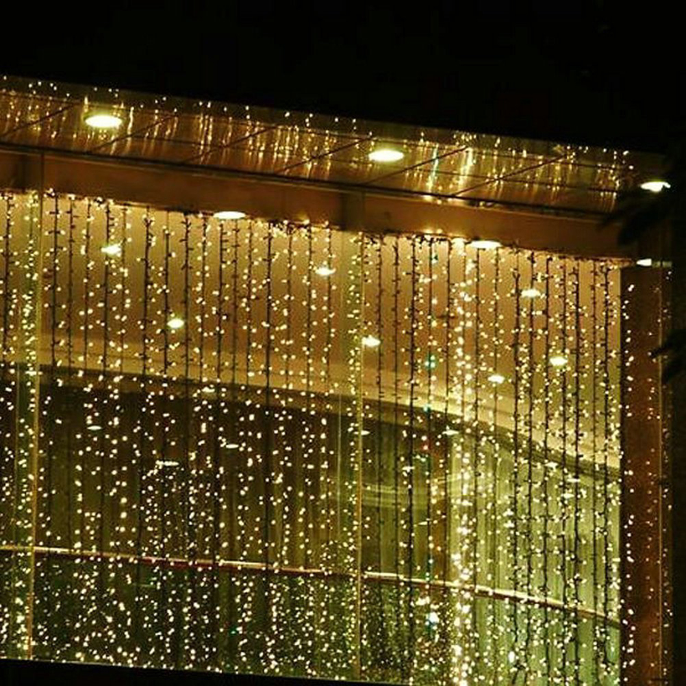 220V RGB 300 LEDS 3M*3M Led Waterfall Outdoor String Light Christmas Wedding Party Holiday Garden LED Curtain Lights Decoration(China (Mainland))