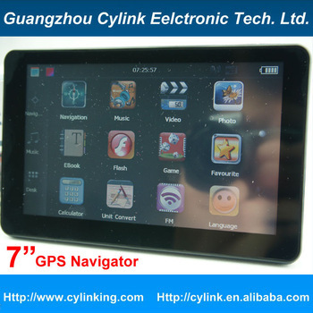 7 inch 800*480 HD Car GPS Navigator System CPU MTK912S 800Mhz / RAM128MB-4GB Flash-Win CE6.0-FM Transmit-map FREE - Cylink Chain Operation Store store