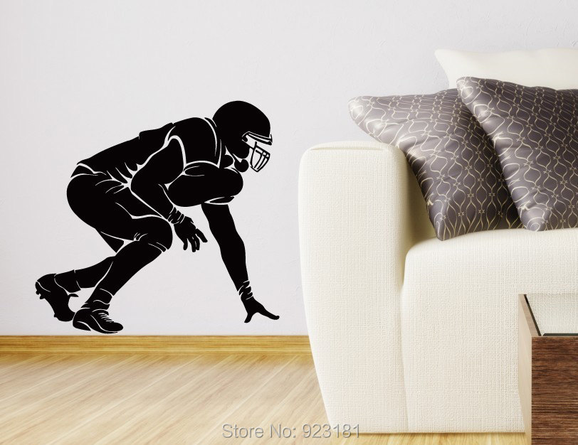 American Football Rugby Player Soccer Sport Wall Art Sticker Decal Home DIY Decoration Wall Mural Removable Room Decor Sticker(China (Mainland))
