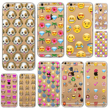 Newest Fashion Lovely Funny Emoji Cases For iphone 6 6S 5 5S SE 5C 6Plus 6splus 4 4S Silicone Cell Phone Cover Various Covers(China (Mainland))
