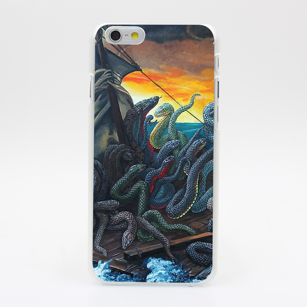 919T Raft Of Reptile Rescue After Gericault Hard Case Cover for iPhone 4 4s 5 5s SE 5C 6 6s Plus Skin Back(China (Mainland))