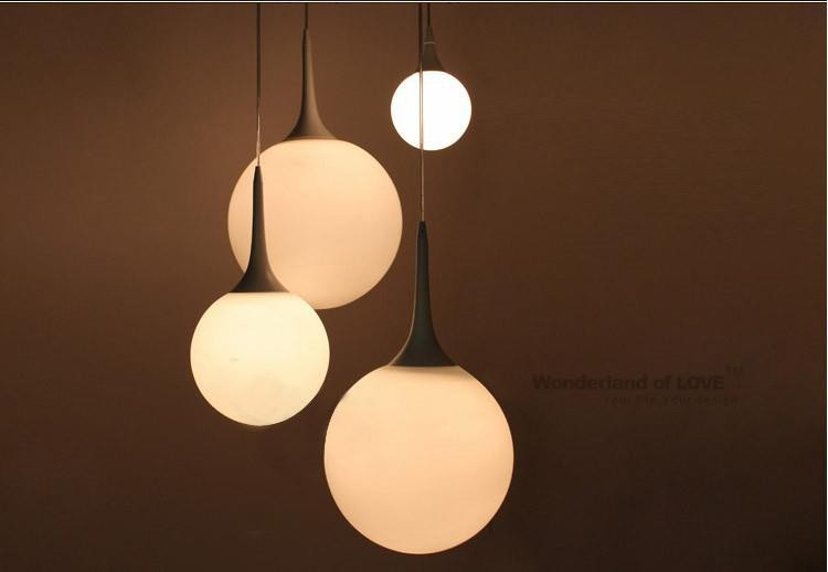 Free Shipping 1Piece Modern White Milk Glass Globe Lamp