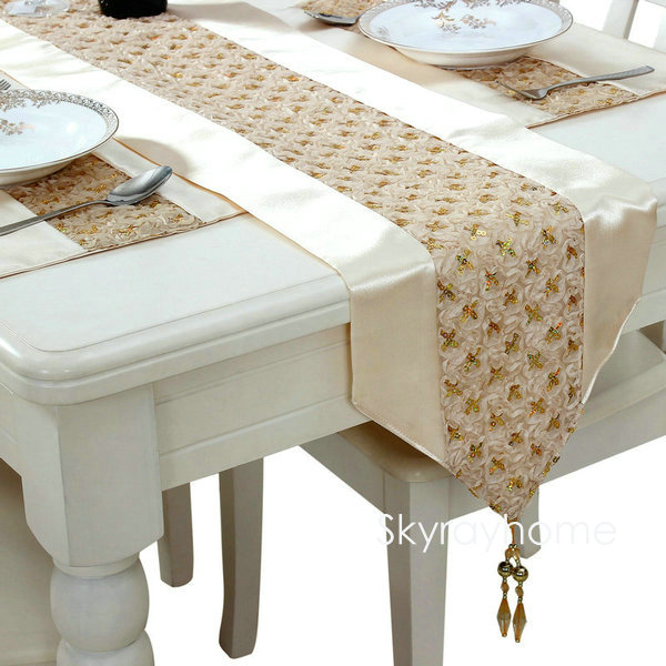 Sequins Table Runner Champagne Dining Table Runner In Table Runners