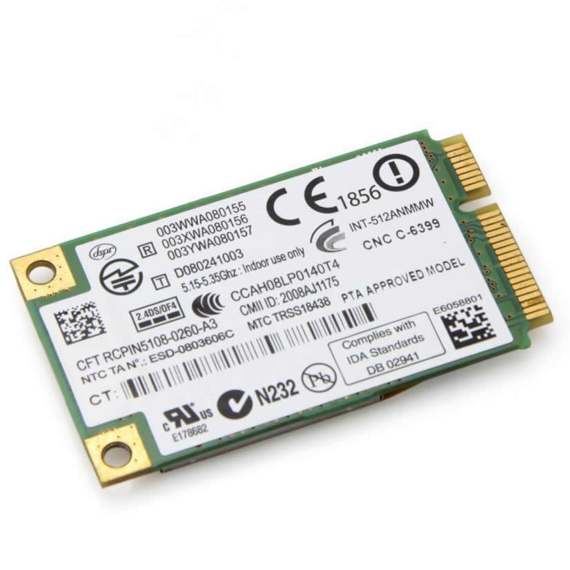5100AGN 300Mbps PCI-E WiFi Adapter Mini PCi Express WLAN Adapter For Intel 5100AGN WiFi Link 5100(China (Mainland))