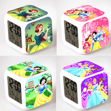 Snow White Alarm Night Light Clock Lovely Popular Square LED Colorful Digital Electronic Clock America Anime Toys Small Gift #F