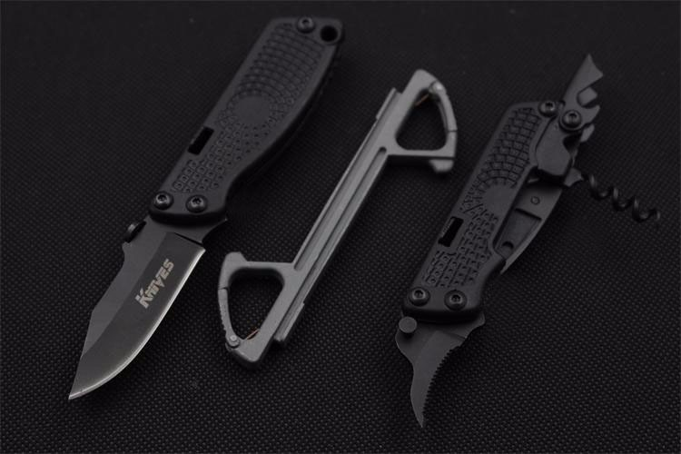 Buy New 5in1 SR Fixed Blade Knife Swiss Multi function Camping Survival Knives Hunting Tactical Knifes Outdoor Tools Free Shipping cheap