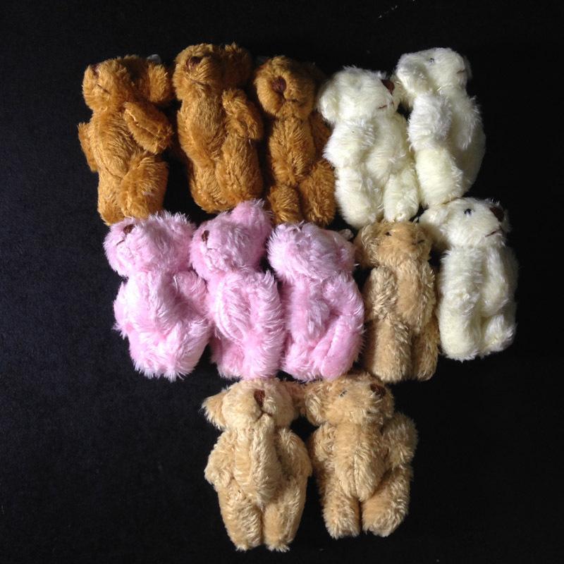 Wholesale 4cm Plush Small Teddy Bear Chaveiro Mini Urso De Pelucia Oso For Bouquet Flower Packaging Materials Bear(China (Mainland))