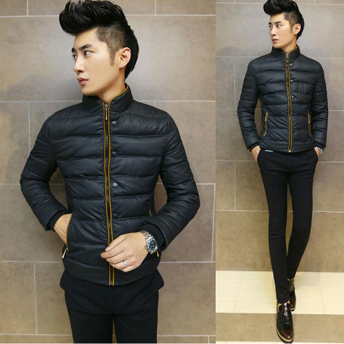 2014 New Brand  Stand Collar Winter Jacket Men  Fashion Men Coat Cotton Filling Size L-XXXLОдежда и ак�е��уары<br><br><br>Aliexpress