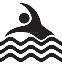 Swimming Pool Symbol Sign car window sticker vinyl decal funny JDM and all the smooth surface