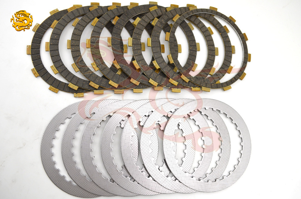 A set friction plates steel plate Motorcycle parts clutch plates friction discs FOR HONDA CBR1000RR CBR