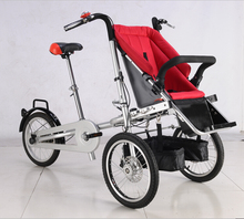 stroller 16inch folding multifunction mother baby bike STEEL frame mother stroller bike pushing triwheel bike easily(China (Mainland))