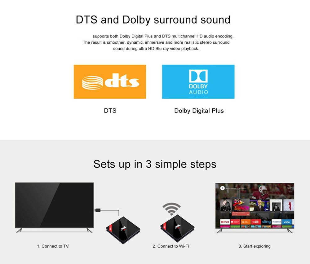 image for 3G/32G H96 Pro Plus + Amlogic S912 H96 Pro Plus Android 7.1 TV Box Oct