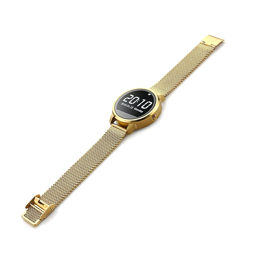Elegant Smartwatch Bluetooth Calorie Pedometer Sleep Monitor Fitness Tracker Remote Control Voice Control for Android IOS