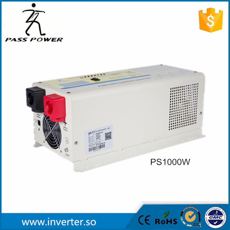 Factory selling ups system LCD display 50Hz 12v/24v 1000w dc to ac inverter charger inverter pure sine wave dc ac inverter(China (Mainland))