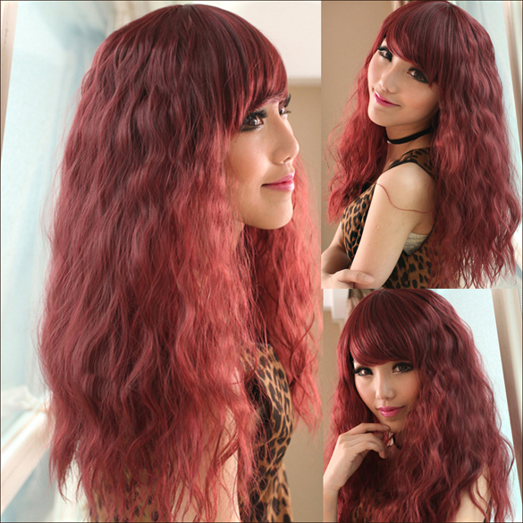 косая челка на длинные кудрявые волосы фото