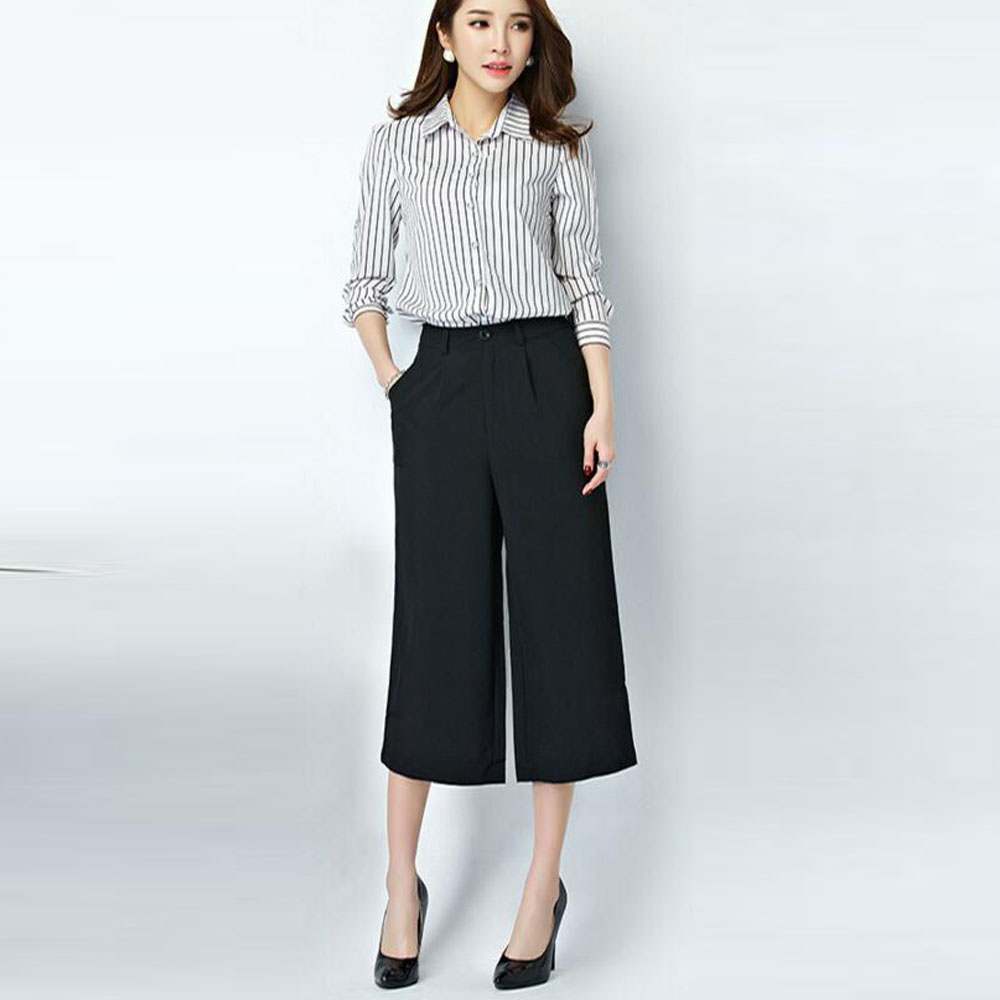 Gray Wide Leg Pants - White Pants 2016