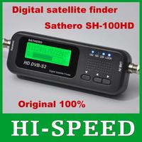 Original Sathero Pocket Digital Satellite Finder Meter SH-100HD HD DVBS2 USB 2.0 Signal Digital Sat Finder HD free shipping post