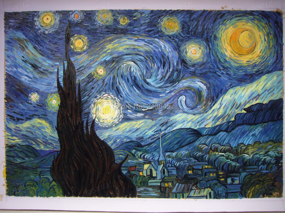 the style of music in vincent van goghs starry night Between 16 and 18 june 1889, dutch painter vincent van gogh created one his most famous works from the view out of an asylum window: the starry night.