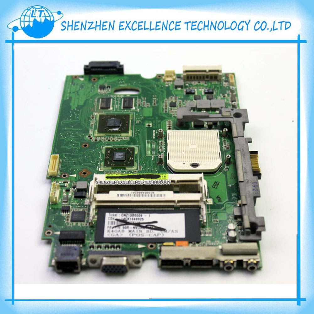 Original K40AB REV 1.3 or 2.1 motherboard for Asus laptop K50AB X5DAB K40AF K40AD K50AF K50AD X8AAF X5DAF DDR2 Mainboard Tested(China (Mainland))