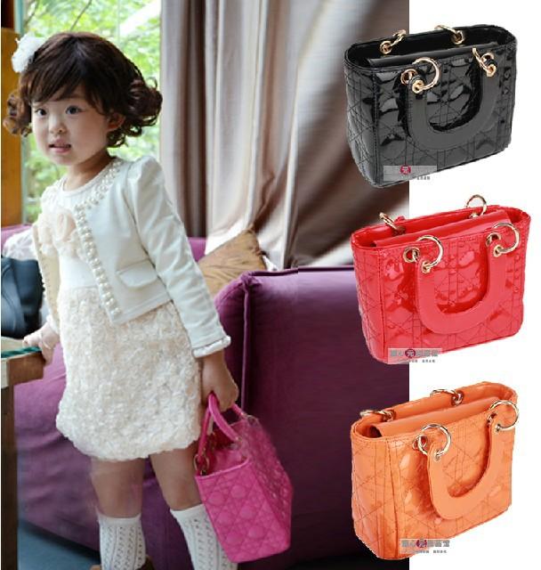 Baby Bag Girls Accessories Kids Diamond Princess Package Lady Fashion Handbags Children PU Slingbag