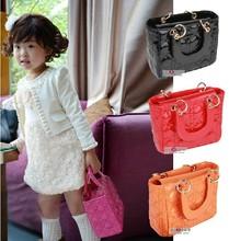 Baby Bag 5 Pcs Girls Accessories Kids Diamond Princess Package Lady Fashion Handbags Children PU Slingbag Free Shipping(China (Mainland))