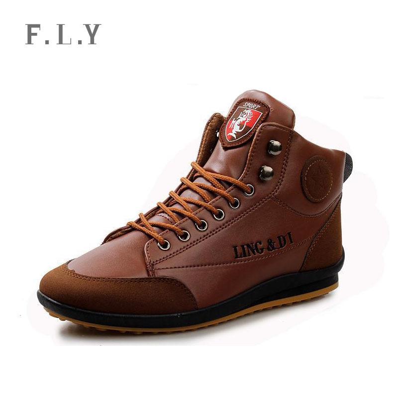 winter warm mens Korean tide leather shoes Medium cut casual zapatos walking outdoor sapato masculino Plus size PX0159 - men NO.1 store