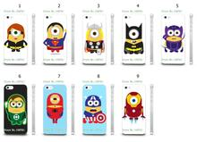 Mobile Phone Case Wholesale 9pcs/lot superhero cartoon Protective White Hard Case Cover For Iphone4 4S Free Shipping