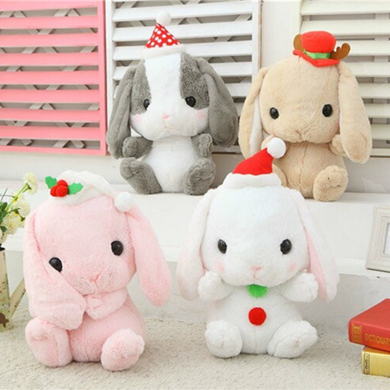 2015 Christmas cute lop rabbit models, the bulk of Meng rabbit rabbit doll, plush toy dolls, birthday gift(China (Mainland))